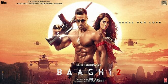 Disha Patani with Tiger Shroff in Baaghi 2 Movie Poster