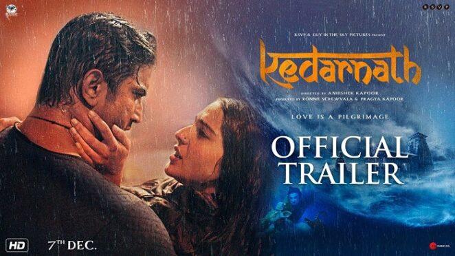 Sara Ali Khan with Sushant Singh Rajput - Kedarnath Movie Poster